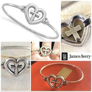 James Avery ETERNAL LOVE heart cross bracelet hook